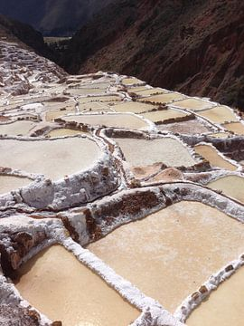 Peru, Salinas de Maras, zoutwinning, Inkas van Patsy Van den Broeck