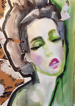 Lotusblume von Helia Tayebi Art