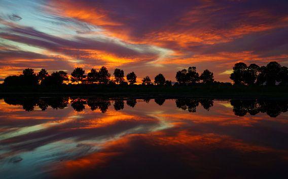Dutch Sunset van Martin Podt