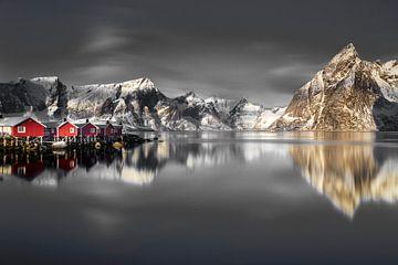 Vissershuisjes op de Lofoten van