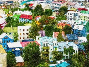 Island: Die Farben Reykjaviks von Frans Blok
