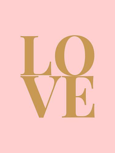 Love (roze/goud)