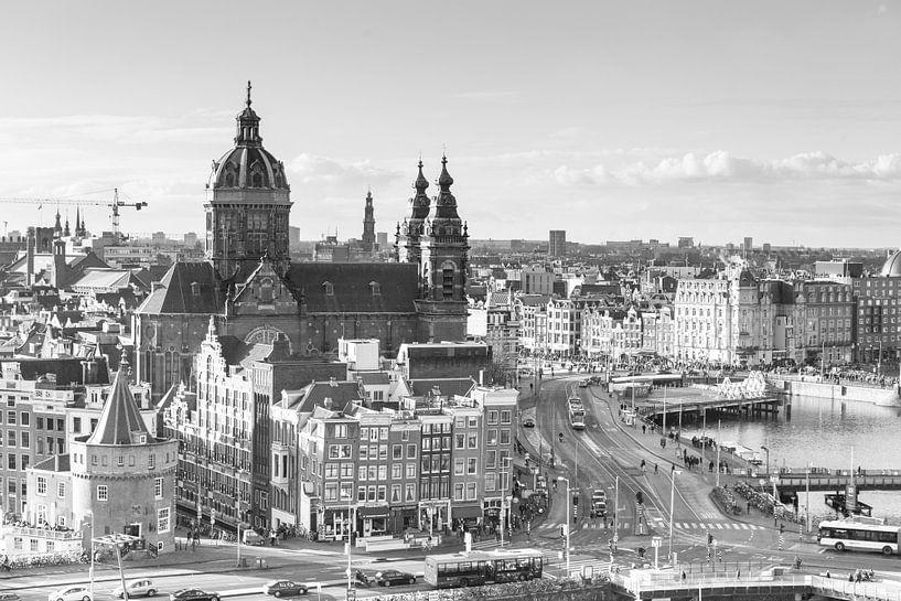 De Skyline van Amsterdam II van Wesley Flaman