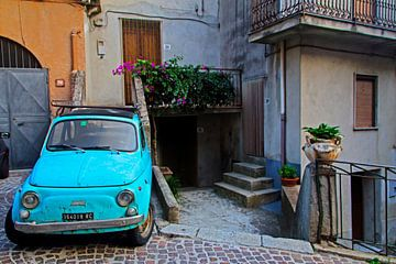 Fiat 500 Italië Calabrië van Sophie van Ommeren