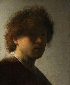 Rembrandt Harmensz. van Rijn. Zelfportret op jeugdige leeftijd