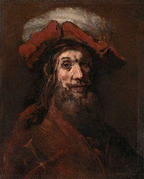 """Skizze für Der Ritter mit dem Falken, bekannt als """"The Crusader"""", Rembrandt van Ri"""