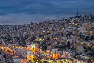 Amman bij nacht van Mark Lenoire