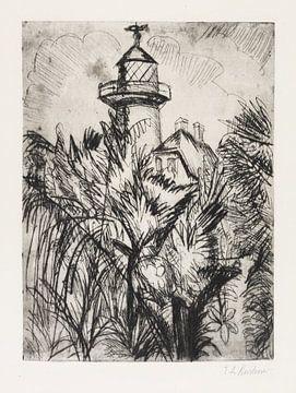 Leuchtturm im Grünen, Fehmarn, ERNST LUDWIG KIRCHNER, 1913 von Atelier Liesjes