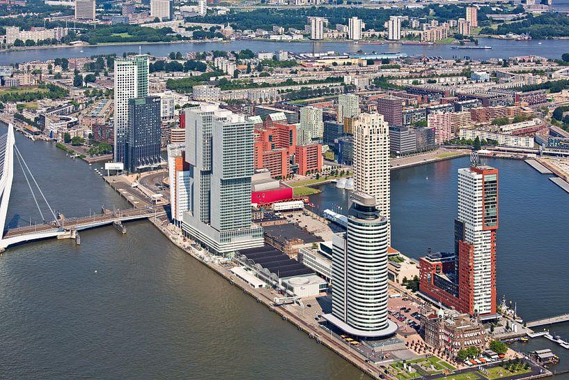 Luchtfoto Wilhelminapier Rotterdam van Anton de Zeeuw