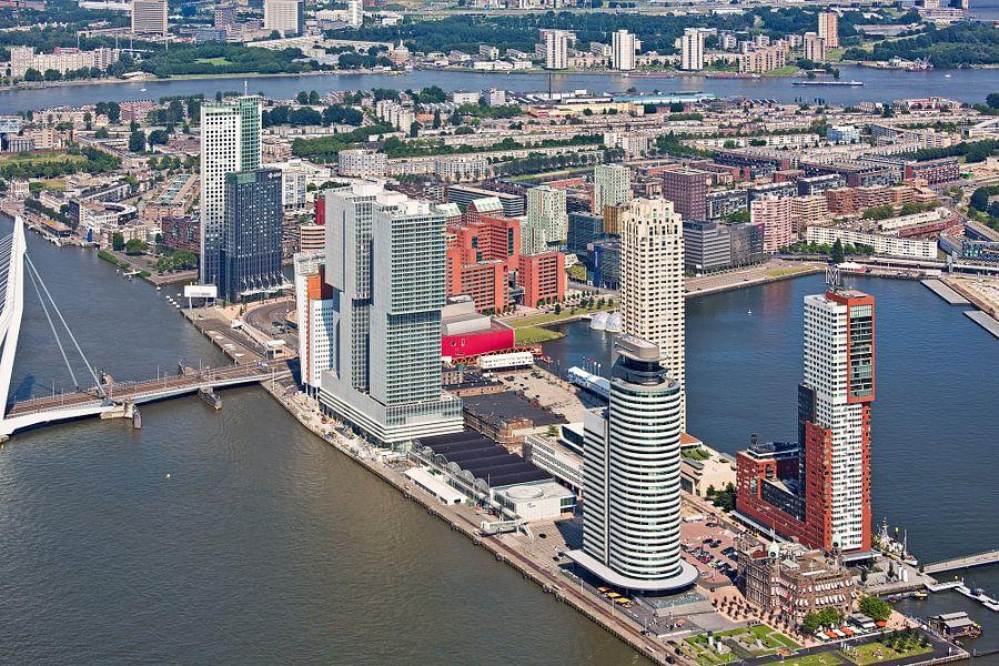 Luchtfoto Wilhelminapier Rotterdam