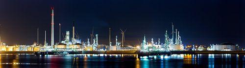 Panorama haven Rotterdam; industrie