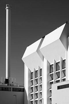 Architectuur in zwart-wit van