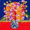 Fröhliche Blumenmalerei von Nicole Habets Miniaturansicht