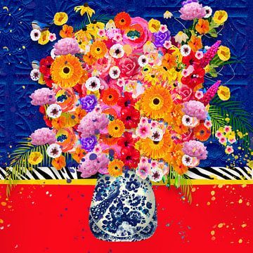 Fröhliche Blumenmalerei von Nicole Habets