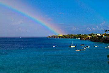 Regenbogen über Westpunt (Curacao) von rene marcel originals