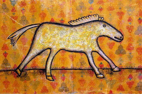 WALLPAPER HORSE van Ans de Bie