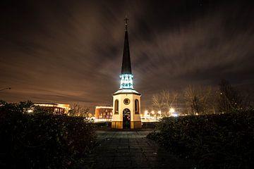 Gertrudis Chapelle Bergen sur zoom le soir sur Lars Mol