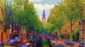 Amsterdam, Ansicht von Zuiderkerk von Digital Art Nederland