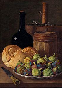 Stilleben mit Feigen und Brot, Luis Eugenio Meléndez