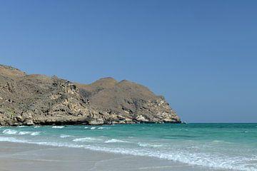 Strand bij Mughsayl (Oman) van Alphapics