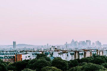 Zonsondergang in Parijs van Eveline Smolders