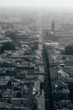 Bologna in zwart wit van