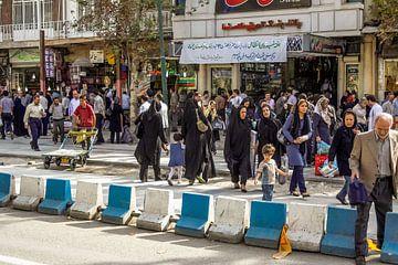 Stadsbeeld in Teheran. van