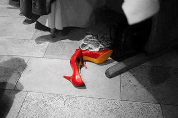 Red shoes van Erich Werner