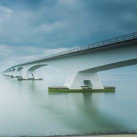 Lange sluitertijd Zeelandbrug (XI) van Mirjam Boerhoop - Oudenaarden