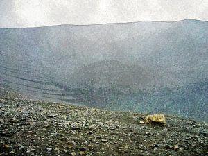 De maankrater van Myvatn, IJsland