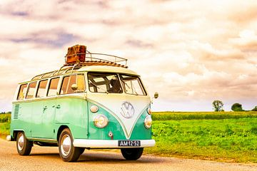 Volkswagen Transporter T1 Samba uit de jaren '50  klassieke camper