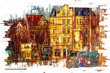 Dortmund Bornstrasse Pop Art van Johnny Flash