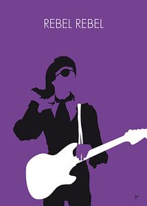 No031 MY BOWIE Minimal Music poster