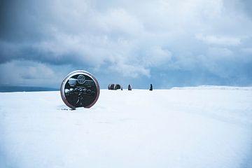 Kunst bij de Noordkaap van PHOTORIK