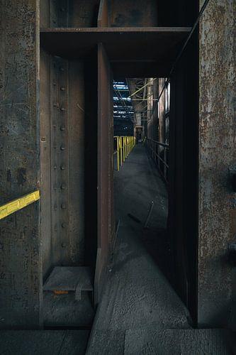 Verlaten staalfabriek ergens in België