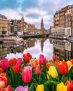 Tulpenmania in Amsterdam van Bas Banga