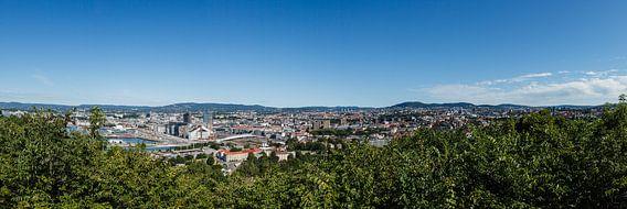 Oslo, panorama van de stad in Noorwegen van Martin Stevens