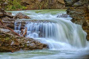 Waterval in de Johnston Canyon
