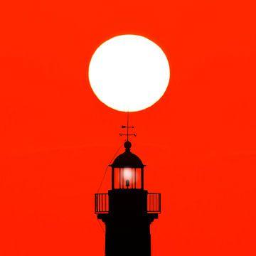 Vuurtoren en zon van