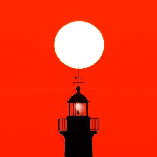 Vuurtoren en zon