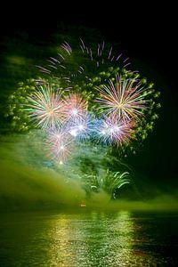 vuurwerk op de Rijn.
