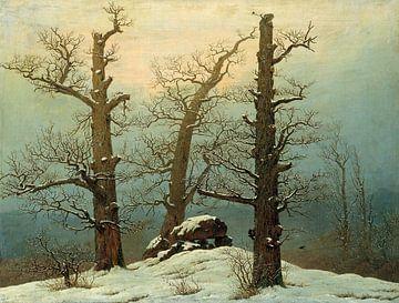 Hünengrab im Schnee, Caspar David Friedrich