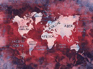 Weltkarte 7 #Karte #Weltkarte von JBJart Justyna Jaszke