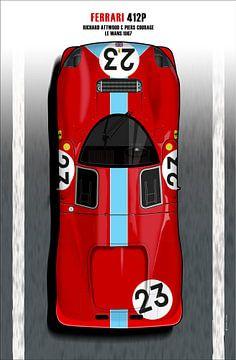 Attwood-Courage Ferrari 412P van Theodor Decker