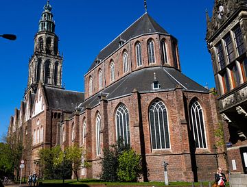 Martinikerk van achteren van Groningen Stad