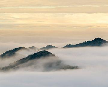 Mer des nuages autour des montagnes d'Alishan sur Jos Pannekoek
