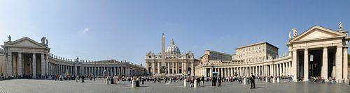 Het Vaticaan, the Vatican. Sint Pieterskerk. Rome, Italy van Martin Stevens