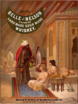 Whisky-Poster mit einem Harem von Belle oder Nelson von Atelier Liesjes