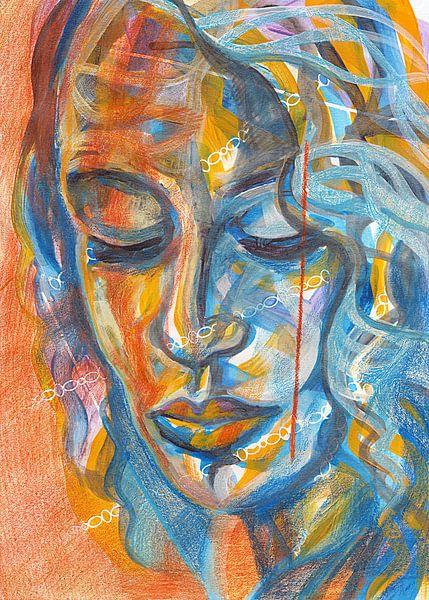 Oranje sfeer van Eva van den Hamsvoort