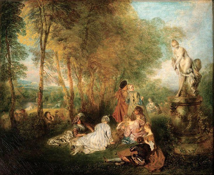 Antoine Watteau - The Feast of Love van 1000 Schilderijen